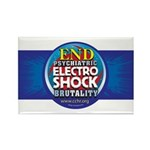 End Electro-Shock Brutality Rectangle Magnet (100