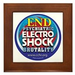 End Electro-Shock Brutality Framed Tile