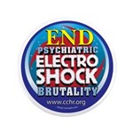 "End Electro-Shock Brutality 3.5"" Button (100"