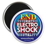 """End Electro-Shock Brutality 2.25"""" Magnet (100"""