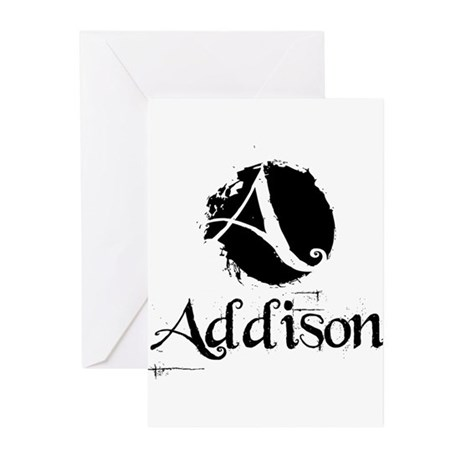 Addison Grunge Greeting Cards (Pk of 20)