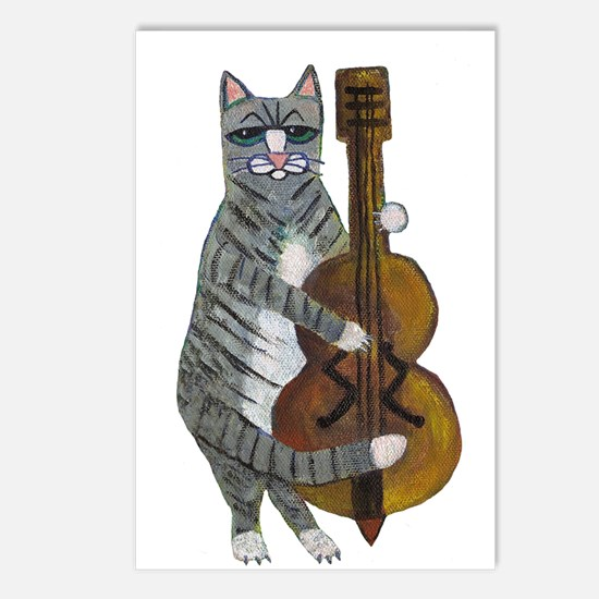 Cat and Cello Postcards (Package of 8)