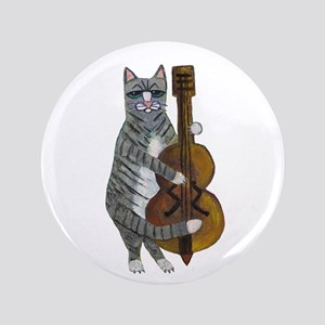 "Cat and Cello 3.5"" Button"