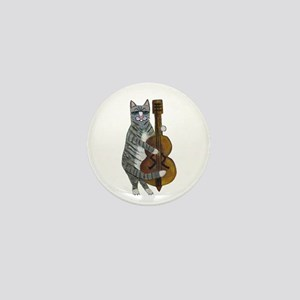 Cat and Cello Mini Button