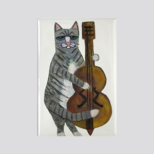 Cat and Cello Rectangle Magnet
