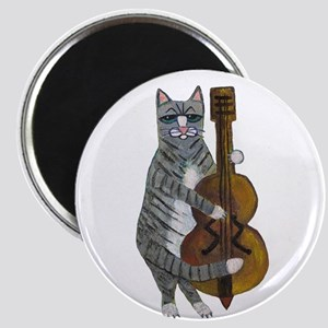 Cat and Cello Magnet