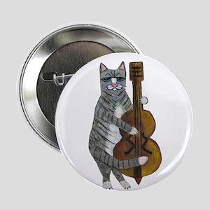 "Cat and Cello 2.25"" Button"