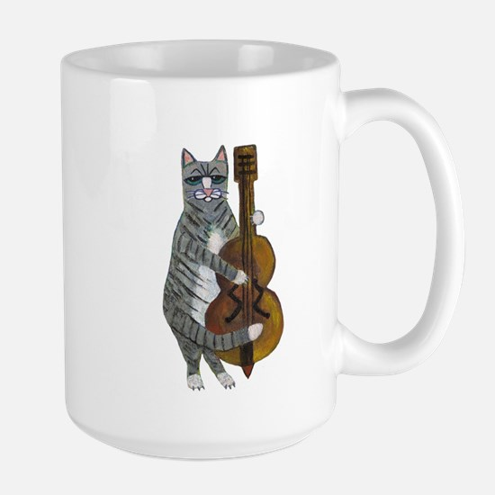 Cat and Cello Large Mug
