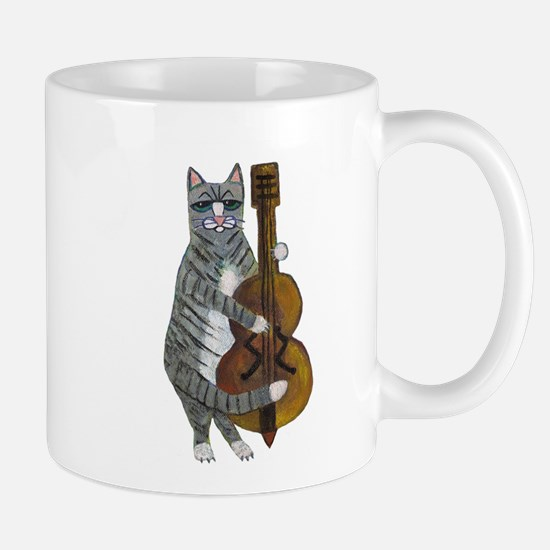 Cat and Cello Mug