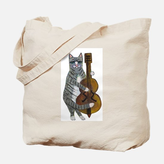 Cat and Cello Tote Bag