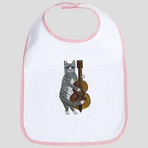 Cat and Cello Bib