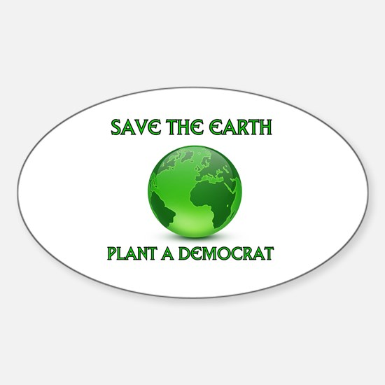 CLEAN UP AMERICA Sticker (Oval)