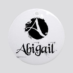 Abigail Grunge Ornament (Round)