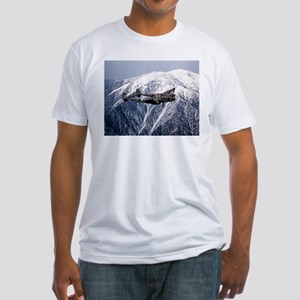 P-38 and the Mountain Fitted T-Shirt