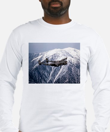 P-38 and the Mountain Long Sleeve T-Shirt