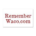 Rememberwaco.com Car Magnet 20 X 12