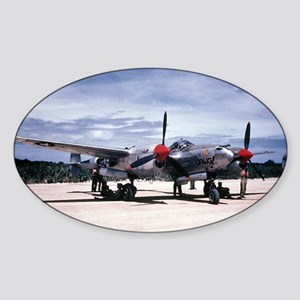 PTO - P-38 Oval Sticker