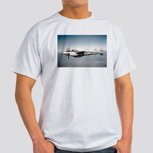 P-38 In Flight Ash Grey T-Shirt