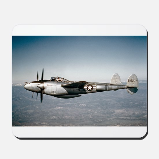 P-38 In Flight Mousepad