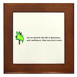 Key to Success Framed Tile