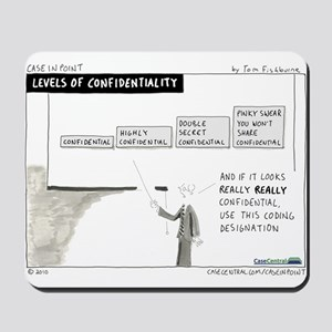 Levels of Confidentiality Mousepad