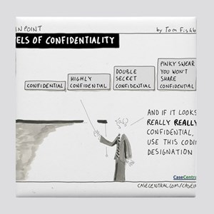 Levels of Confidentiality Tile Coaster