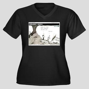 Pompeii Women's Plus Size V-Neck Dark T-Shirt