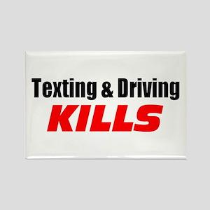Texting & Driving Kills Rectangle Magnet