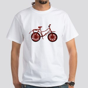 Red Bicycle White T-Shirt