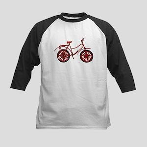 Red Bicycle Kids Baseball Jersey