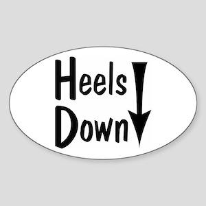Heels Down! Arrow Oval Sticker
