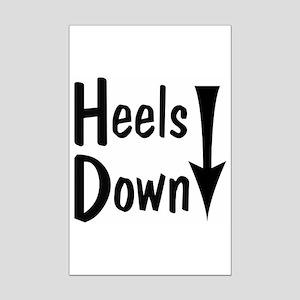 Heels Down! Arrow Mini Poster Print