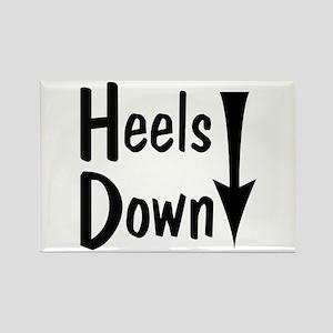 Heels Down! Arrow Rectangle Magnet