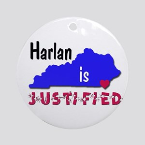 Harlan is Justified Ornament (Round)