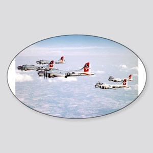 B-17 Formation Oval Sticker