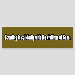 Gaza Solidarity Bumper Sticker