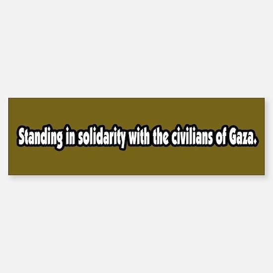 Gaza Solidarity Bumper Bumper Bumper Sticker