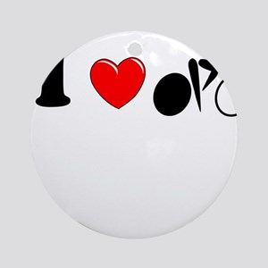 I (heart) Cycling Ornament (Round)