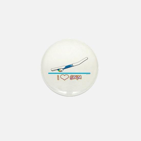 i Love Swim (girl) Mini Button
