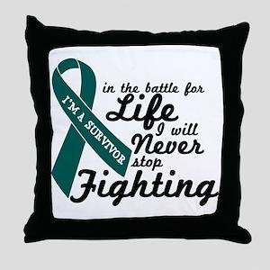 Ovarian Cancer Survivor Throw Pillow