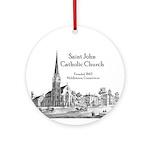 St. John Ornament (Round)