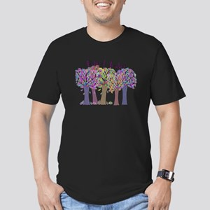 retired teacher Men's Fitted T-Shirt (dark)