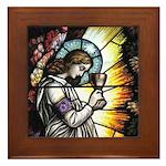 Angel in Gethsemane Framed Tile