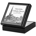 St. John Church Lithograph Keepsake Box
