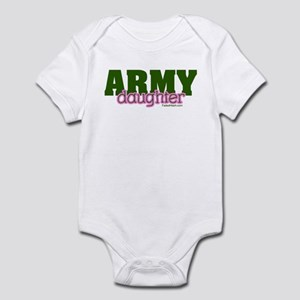 Army Daughter pink/green Infant Bodysuit