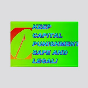 KEEP CAPITAL PUNISHMENT Rectangle Magnet