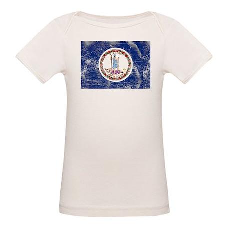 Vintage VA State Flag Organic Baby T-Shirt