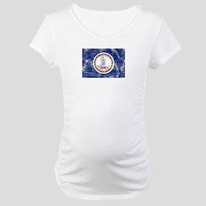 Vintage VA State Flag Maternity T-Shirt