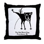 The Bad Black Dog Throw Pillow