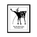 The Bad Black Dog Framed Panel Print